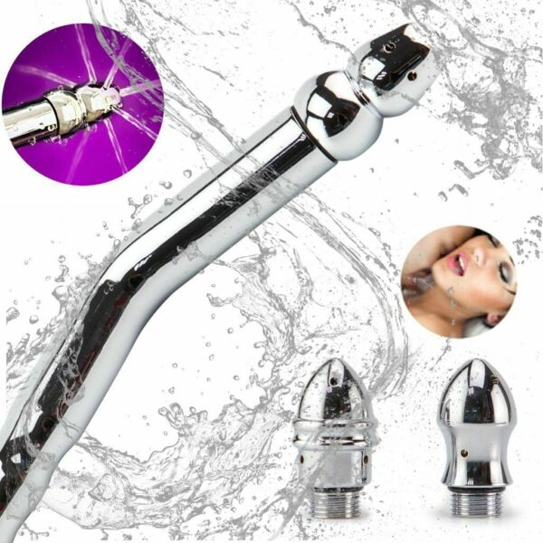 Shower Enema Cleaning Colon Anal Vaginal Douche Water KitNozzle 3 Style Head $12.59