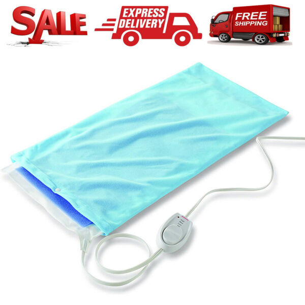 Sunbeam Electric Heating Pad Shoulder Neck Back Spine Legs Pain Moist Thermal