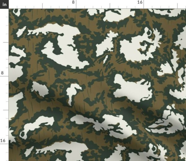 Camo Movie Russian Wolverines Red Spoonflower Fabric by the Yard