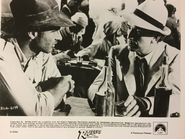 RAIDERS OF THE LOST ARK 8x10 BW GLOSSY PHOTO