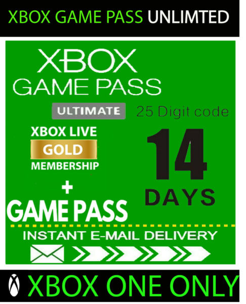 XBOX LIVE GOLD 14 Day Game Pass Ultimate Trial Code INSTANT DELIVERY 24 7 $2.35
