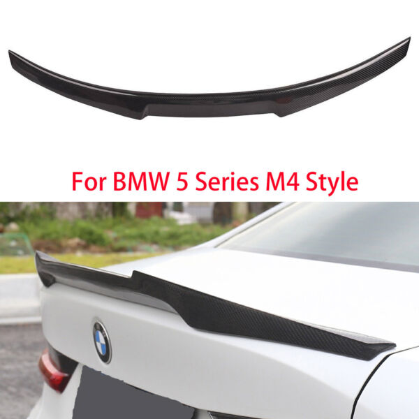FOR BMW BMW F10 5 Series 2009 2017 Rear Carbon Fiber Trunk Spoiler Wing $145.73