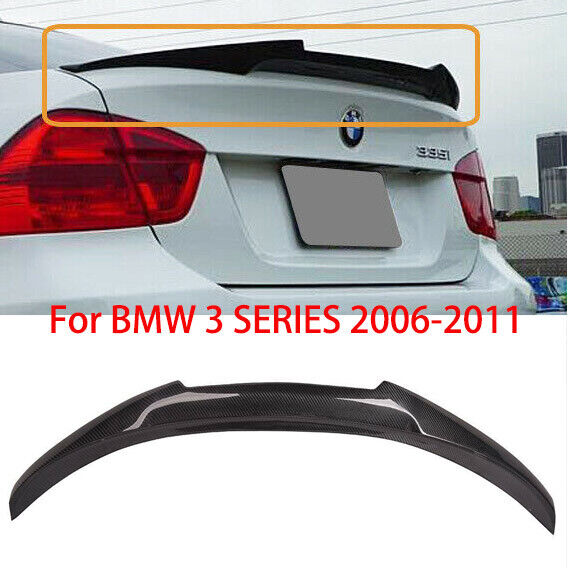 FOR BMW E90 3 SERIES 2006 2011 Rear Carbon Fiber Trunk Spoiler Wing $126.37