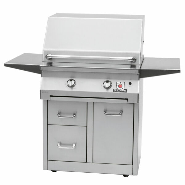 Solaire InfraVection Freestanding Grill Premium Cart 30-Inches Natural Gas