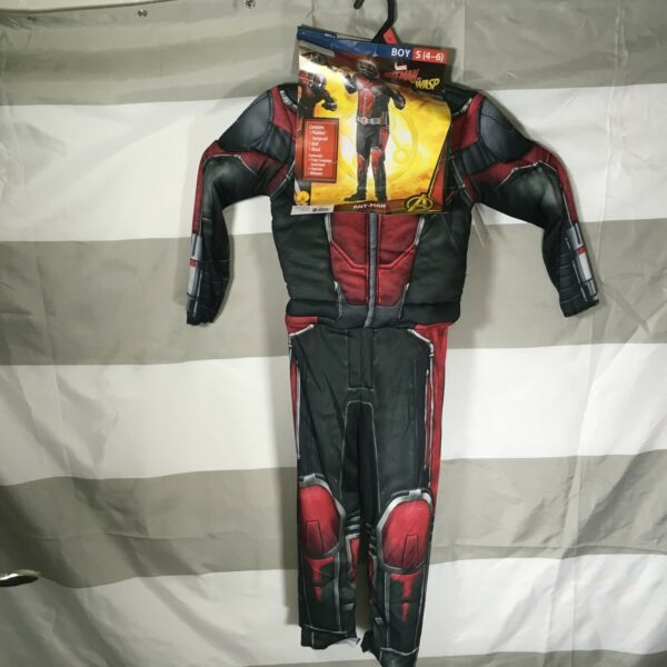 Ant Man CHILD Costume Size Large NEW From Ant Man and the Wasp Movie with Mask
