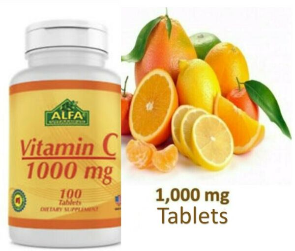 Vitamin C 1000mg 100 CAPS vitamina capsules 1000 mg inmune system EXP 03 23