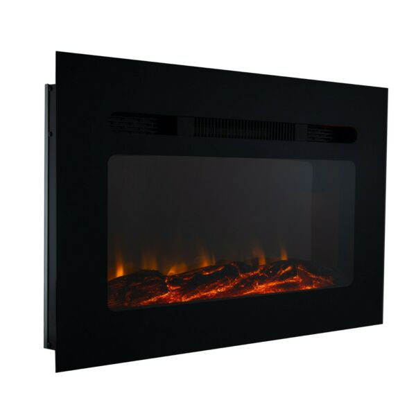 RV Fireplace 36quot; Recessed Electric Fireplace 3 Flame Color Settings