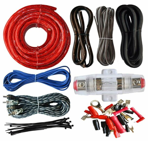 SoundBox ECK4 4 Gauge Amplifier Install Kit Complete Amp Wiring Cables 2300W $23.95