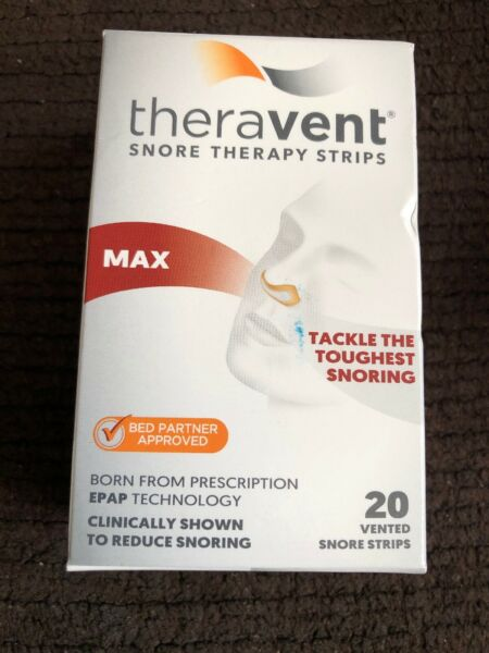 Theravent MAX Vented Snore Therapy Strips 20 Strips Exp 052020