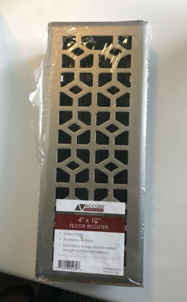 Accord AMFRBNM412 Floor Register Vent Marquis Style 4x12