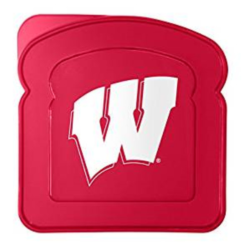 University of Wisconsin Badgers Lunch Box Sandwich Container