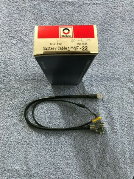 1963-1967 CORVETTE DELCO BATTERY CABLE 4F-22 - NOS GM 8907361