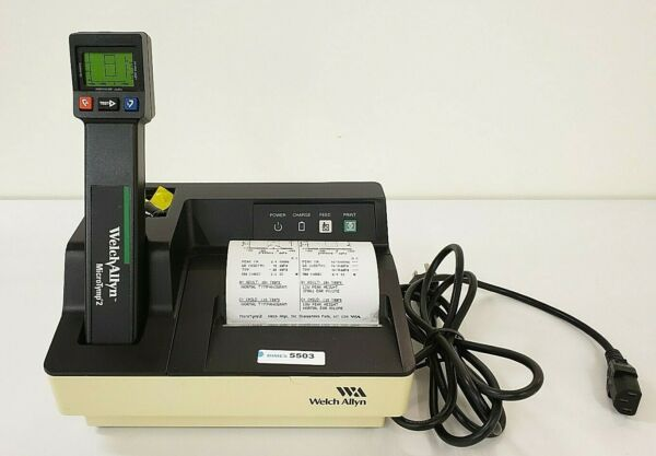Welch Allyn Microtymp 2 Portable Tympanometric Instrument Base Charger Inv 5503