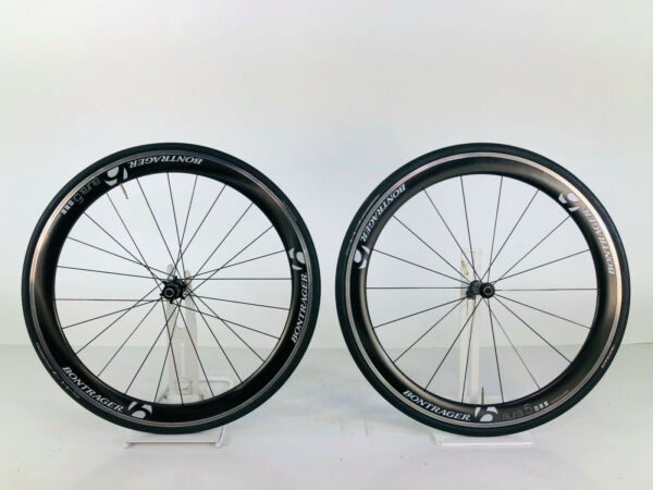 Bontrager Aura 5 carbon wheelset 700c 11 speed with Bontrager AW3 tires WS 168 $950.00