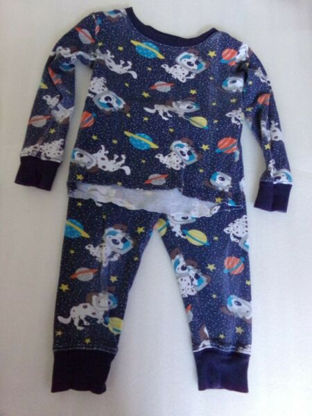 Baby Boys TCP Childrens Place Dog Two Piece Pajamas Set Size 2 Fits 12 18 Months $4.00