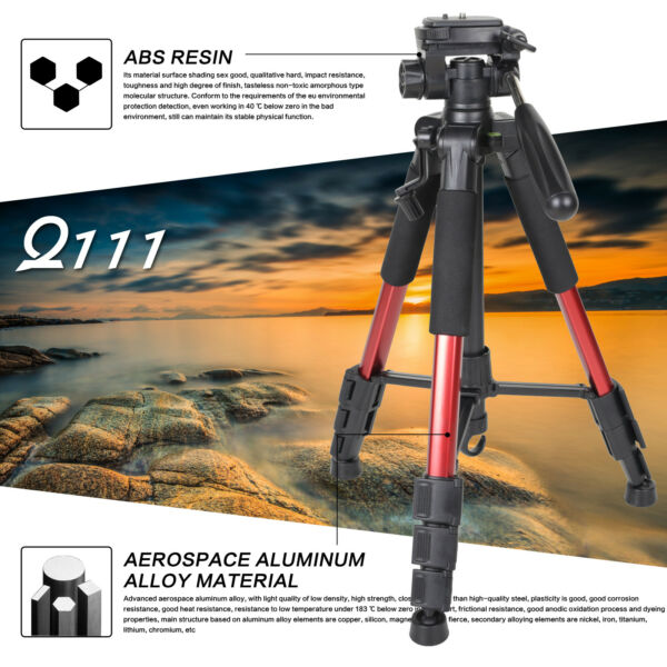 Portable Professional Travel Aluminium Tripod monopodamp;Ball Head for DSLR Camera