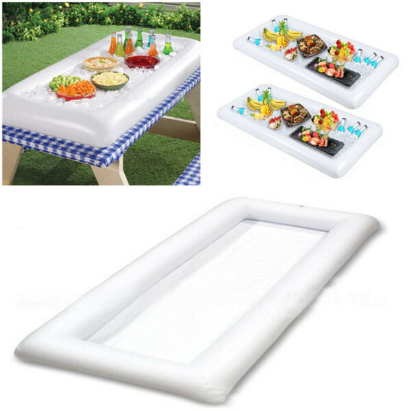 Inflatable Ice Serving Bar Salad Ice Buffet Beverages Drinks Cooler Tray Party