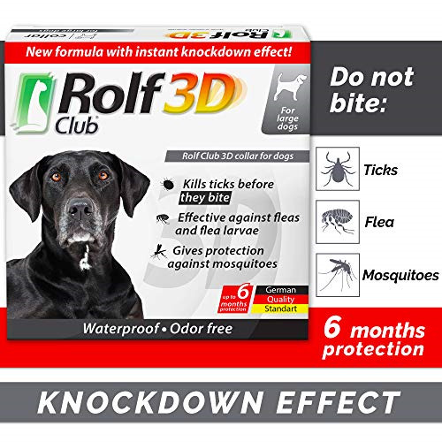 Rolf Club 3D FLEA Collar for Dogs Flea and Tick Prevention for Dogs Dog Flea $34.66