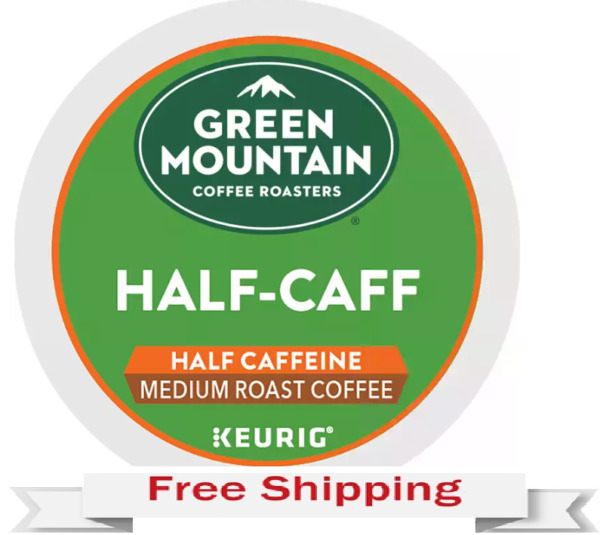 Keurig Green Mountain 1 2 Half Caff Coffee K cups 24 Count