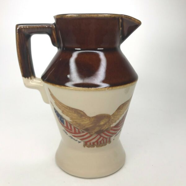 National Gallery Creamer Carved Wooden Eagle Country Farmhouse Spirit Of 76 C31
