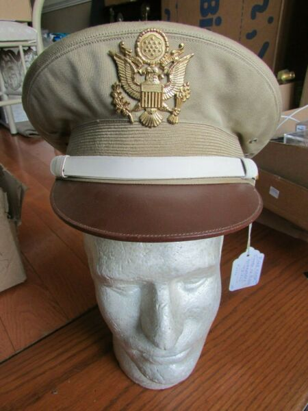 RAREST WW2 US Army MP Police Visor Hat -Exclusivaly made for NURNBERG TRIAL1946