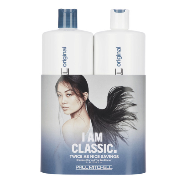 Paul Mitchell Shampoo One & The Conditioner 33.8oz Liter Duo