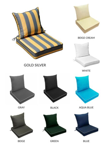24quot;x 24quot;x 5quot; Indoor Outdoor Deep Seat Back Rest Cushion Love Sofa Pillow S1 $58.99