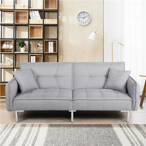 Convertible Sleeper Sofa Bed Couch Pull out Futon Sofas Daybed Recliner Couches $268.99