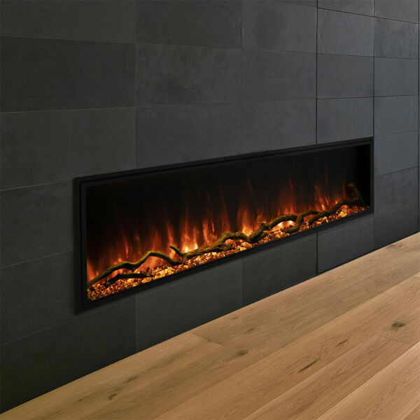 Modern Flames Landscape Series Pro Slim Electric Fireplace 44 Inch Wall Contro