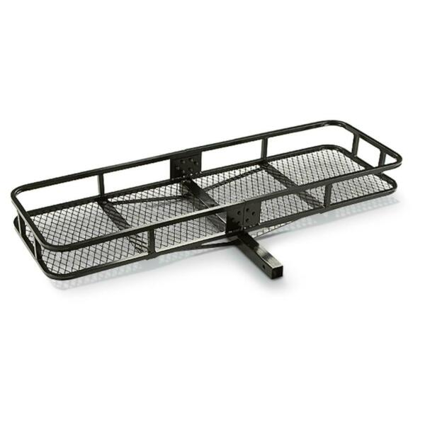 Hitch Mount Cargo Carrier Steel Basket Luggage 2quot; Receiver Rack Hauler 500 lbs $96.90