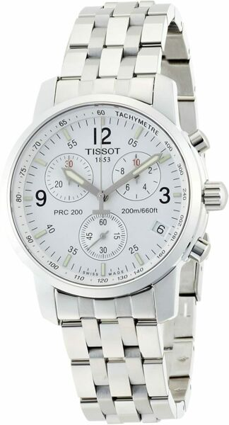 Tissot PRC200 Chronograph Stainless Steel Men#x27;s Brand New Watch T17.1.586.32