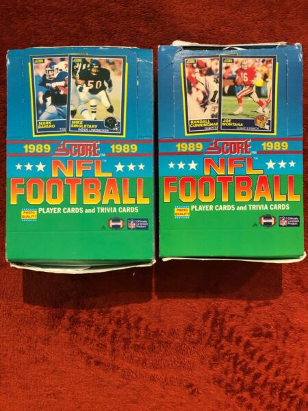 1989 Score Football Factory Sealed Pack Possible Barry Sanders Tory Aikman RC's