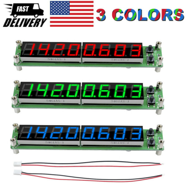 3 Color  0.1-60MHz RF Signal Frequency Counter Cymometer Tester Meter LED