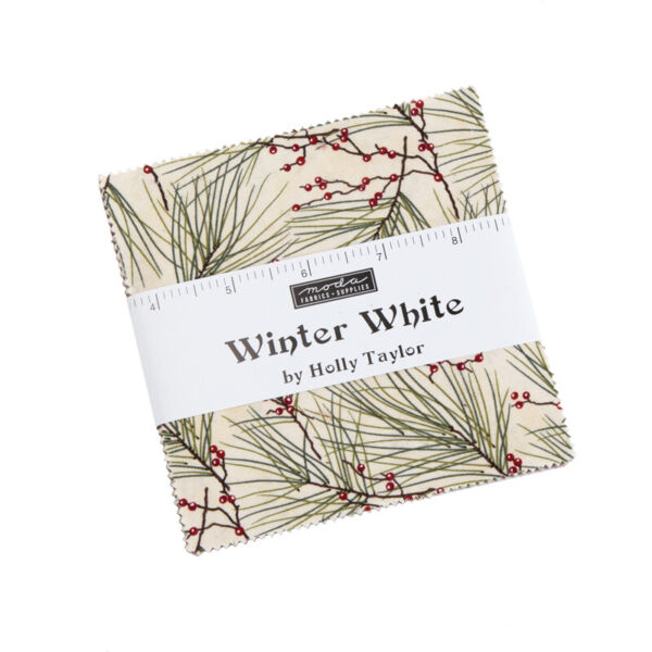 CHARM PACK WINTER WHITE MODA FABRIC 42 5quot; SQUARES HOLLY TAYLOR CHRISTMAS 6810PP