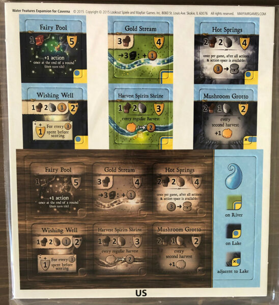 New Unused Caverna Board Game Water Expansion Promo Expansion Mayfair Rosenberg $17.89