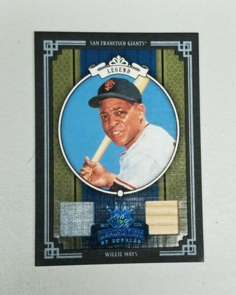 2005 Donruss Diamond Kings Willie Mays Crowning Moments 11 GAME USED BLACK!!!