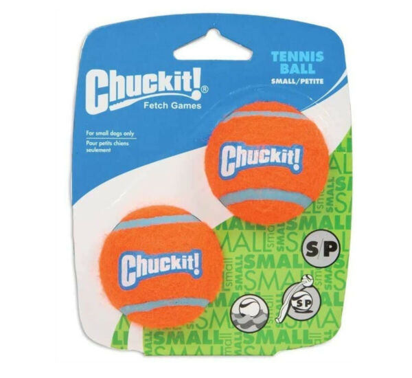 2 Pack Chuckit Mini Tennis Balls Pet Dogs Fetch Toy Small Petite Fits Launchers $6.99