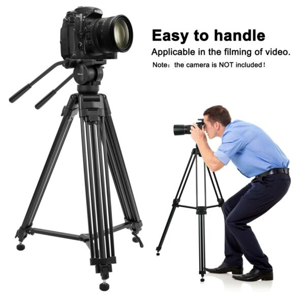 ZOMEI Professional Heavy Duty Tripod Fluid Head Tripod ForVideo Camera Camcorder