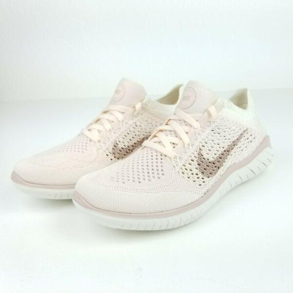 Nike Free RN Flyknit 2018 Womens Running Shoes 942839 802 Beige Pink Sizes 6.5-9