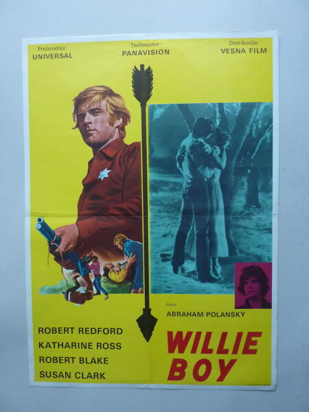 TELL THEM WILLIE BOY IS HERE (1969USA) ORIGINAL YUGOSLAVIAN MOVIE POSTER