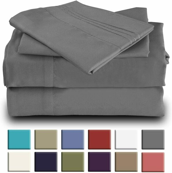 Okao Home Goods Luxury Bamboo Sheet Set Soft Hypoallergenic Deep Pocket 4 Pc Set