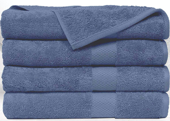 SPRINGFIELD LINEN Premium Hotel amp; Spa Bath Towel Cotton 30quot; x 56quot;Set of 4 $19.99