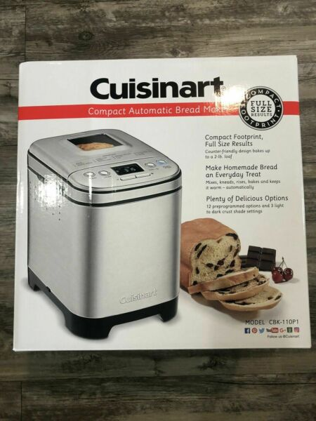 IN HAND FREE SHIP Cuisinart CBK-110P1 2-Pound Compact Automatic Bread Maker NEW
