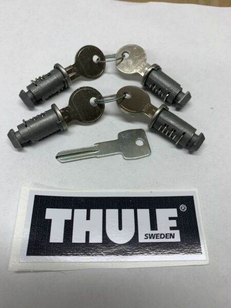 Thule lock core NEW 4pk Same Day Priority Mail Free Ship Free Sticker $40.00
