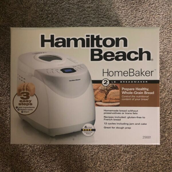 Hamilton Beach 2 lb Digital Bread Maker Model# 29881 - Free Shipping