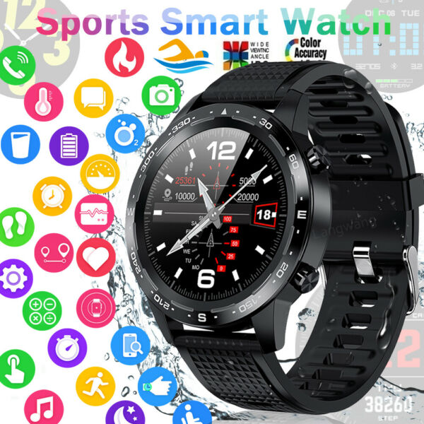 ECG Waterproof Bluetooth Smart Watch Phone Mate For iphone IOS Android Samsung $37.96