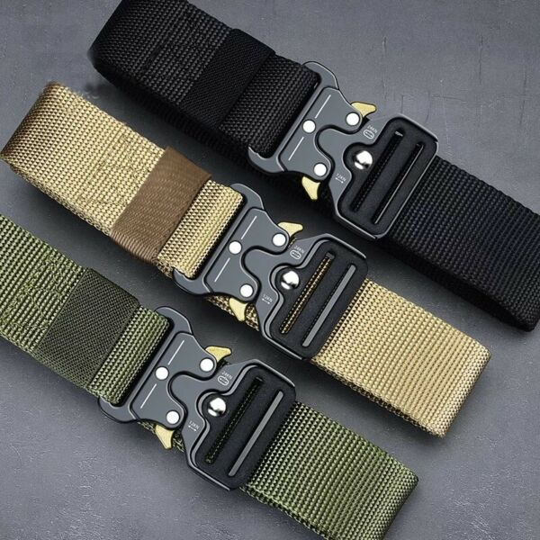 MEN Casual Military Tactical Army Adjustable Quick Release Belts