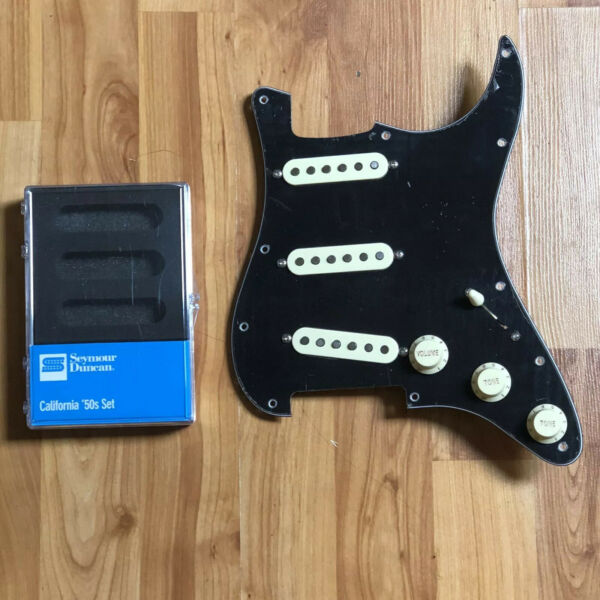 NEW Seymour Duncan SSL 1 Vintage Staggered California Set Loaded Strat Pickguard $219.00