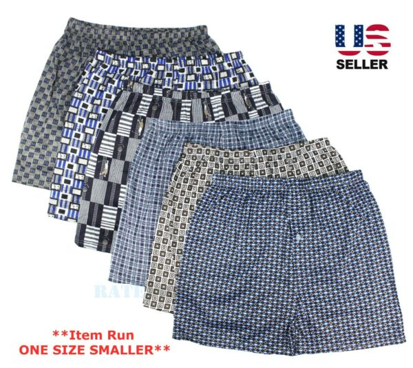 Lot 3-Pack Mens Cotton Boxer Briefs Underwear Shorts Trunks Thin Breathable