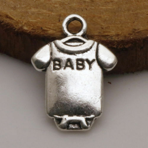 Mixed Set 8 New BABY Charms Tibetan Silver Alloy ONE each FREE SHIPPING $3.00